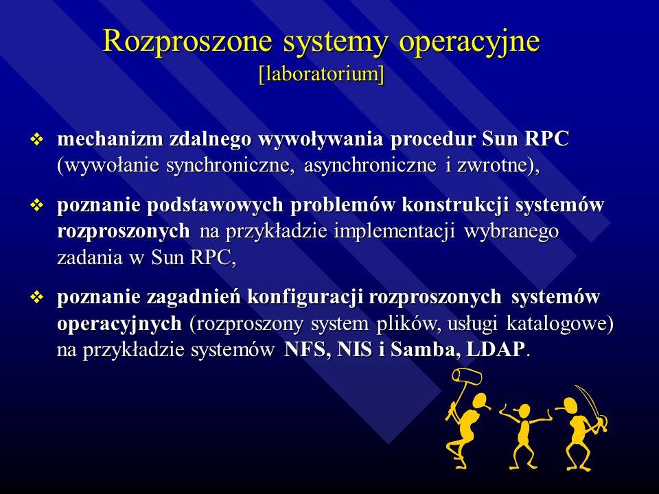 Rozproszone systemy operacyjne [laboratorium]